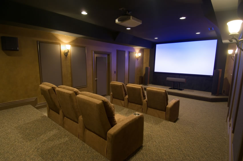 Luxury interior wallpapers home theater interior designs for Interior design ideas home theater