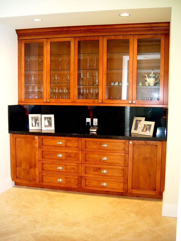 Florida residential commercial wall unit home interior for Dining room cupboard designs
