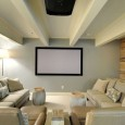 This man cave is filled with comfortable seating and as a large projection TV for everyone to see. This man cave takes all of the tips into consideration from less it more to no wires shown. Consider using these man cave tips in your home too.