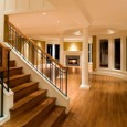 Replacing your wood floor can help keep your home beautiful. These wood floors are beautiful and look nice with a smooth transition from room to room.