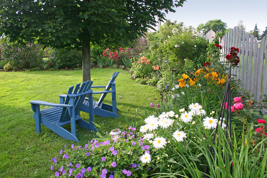 Backyard Flower Garden add beauty to your backyard with a flower garden