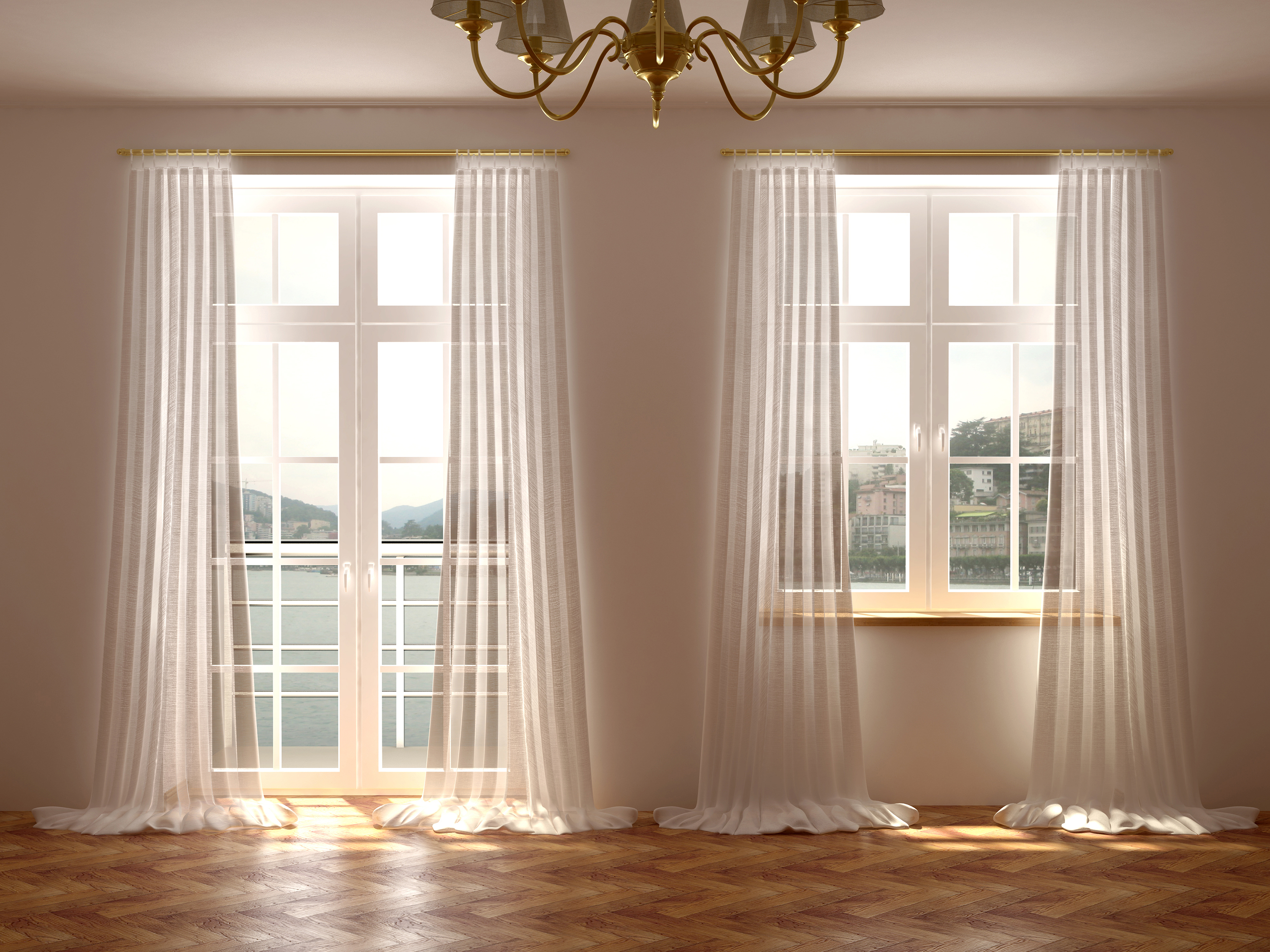 Curtains or blinds which is more luxurious for your home for Window design interiors
