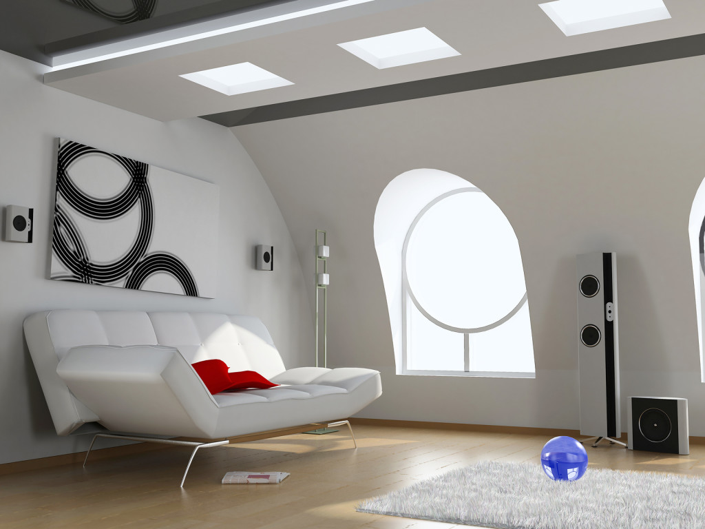 modern attic interior design in Miami
