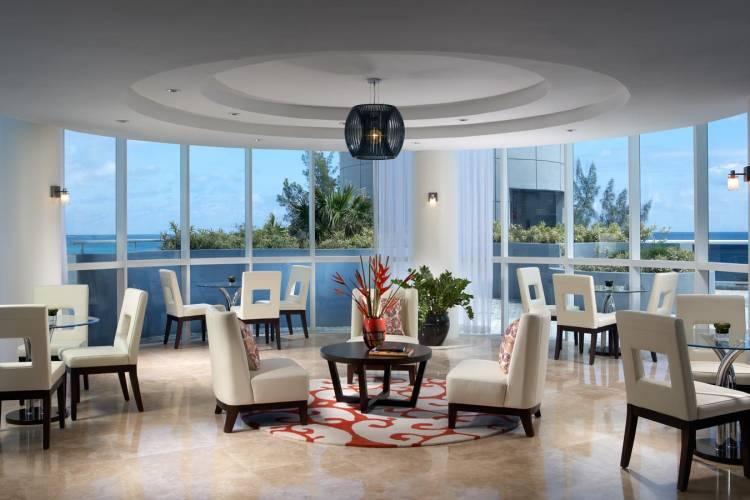 A restaurant interior designed by J Design Group.